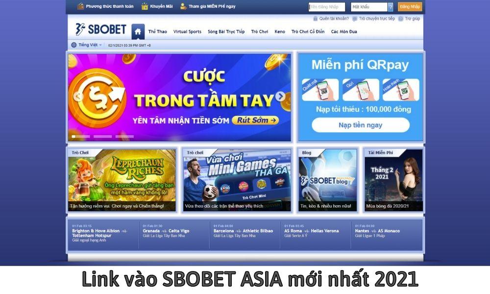 Link vào SBOBET ASIA mới nhất 2021